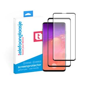 Samsung Galaxy S10 Case friendly screenprotector gehard glas - Telefoonglaasje