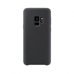 Samsung Galaxy S9 Plus back case black - siliconen