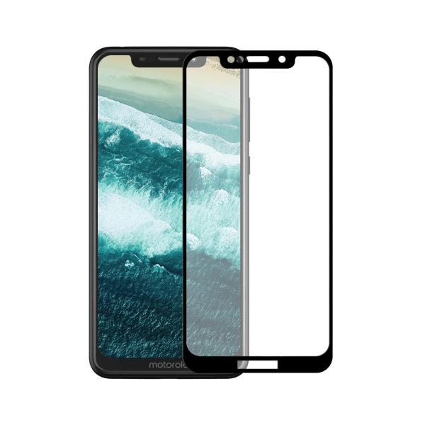 Motorola Moto One screenprotector gehard glas - Edge to Edge - Telefoonglaasje
