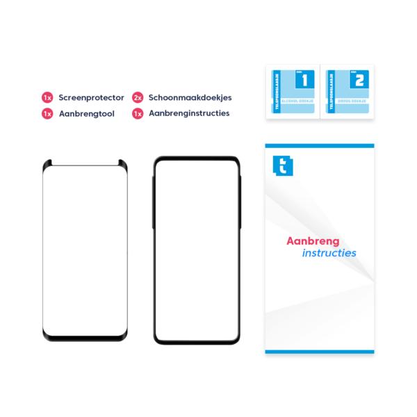 Inhoud verpakking Samsung Galaxy S9 screenprotector Case Friendly