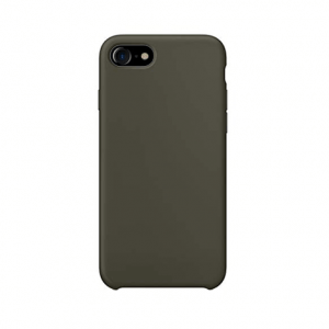 iPhone 8 siliconen back case - Dark Olive