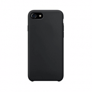 iPhone 8 siliconen back case - Zwart
