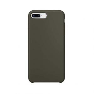 iPhone 8 Plus siliconen back case - dark olive