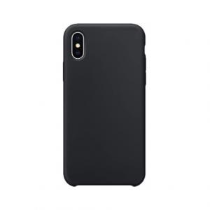 iPhone X siliconen back case - Zwart