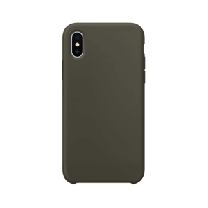 iPhone XS Max siliconen back case - Dark Olive