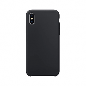 iPhone XS Max siliconen back case - Zwart