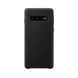 Samsung Galaxy S10 Plus back case zwart - siliconen