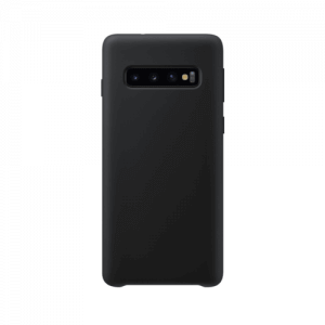 Samsung Galaxy S10 back case black - siliconen