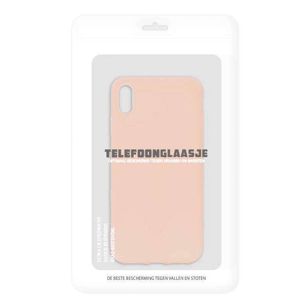 Sealbag iPhone XS tpu back case - pink