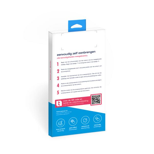 Telefoonglaasje Case Friendly screenprotector verpakking - achterkant
