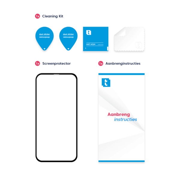 Inhoud verpakking iPhone 11 screen protector Edge to Edge