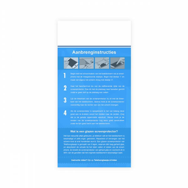 Instructies Edge to Edge screenprotector - Telefoongaasje