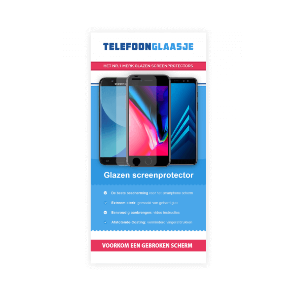 Verpakking Standard Fit screenprotector - Telefoonglaasje