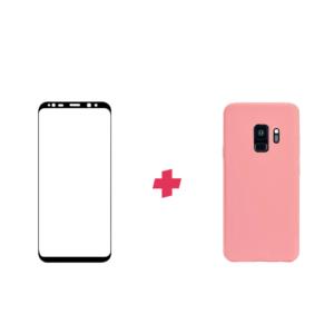 Bundel: Galaxy S9 screenprotector met siliconen hoesje