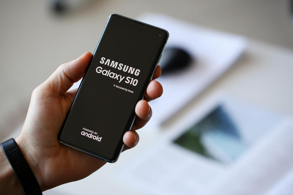 Samsung Galaxy S10 touchscreen instellingen wijzigen