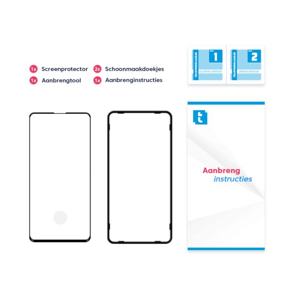Inhoud verpakking Samsung Galaxy S20 screenprotector Case Friendly