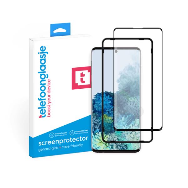 Samsung Galaxy S20 screenprotector met installatietool tempered glass Edge to Edge