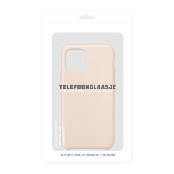 Verpakking iPhone 11 Pro siliconen hoesje - pink sand