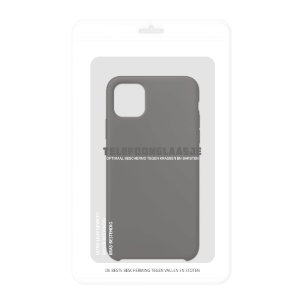 Verpakking iPhone 11 Pro siliconen hoesje - zwart