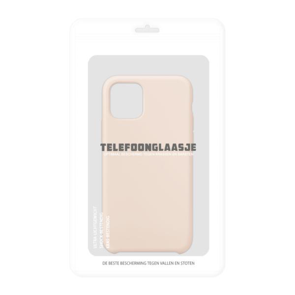 Verpakking iPhone 11 siliconen hoesje - pink sand