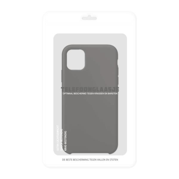 Verpakking iPhone 11 siliconen hoesje - zwart