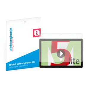 Huawei MediaPad M5 Lite screenprotector tempered glass van Telefoonglaasje