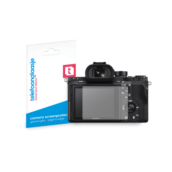 Sony Alpha A7R II screenprotector tempered glass van Telefoonglaasje