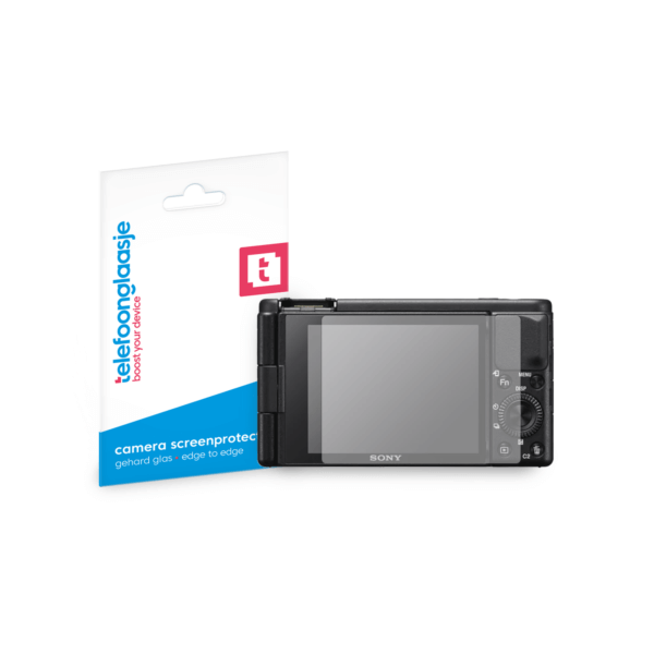 Sony ZV-1 screenprotector tempered glass van Telefoonglaasje