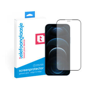 Telefoonglaasje iPhone 12 Pro screenprotector van gehard glas Edge to Edge