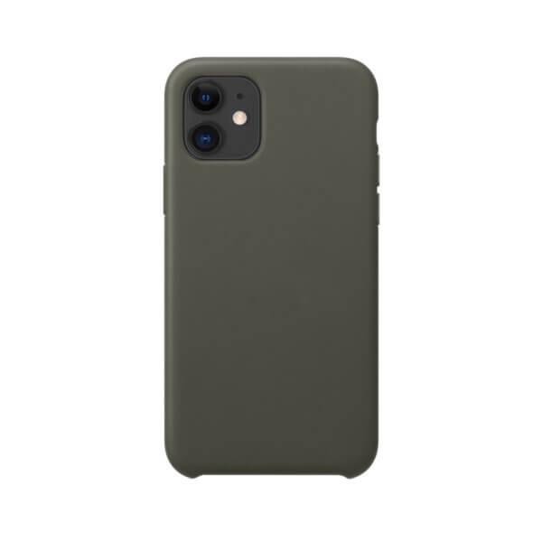 iPhone 11 siliconen hoesje - dark olive