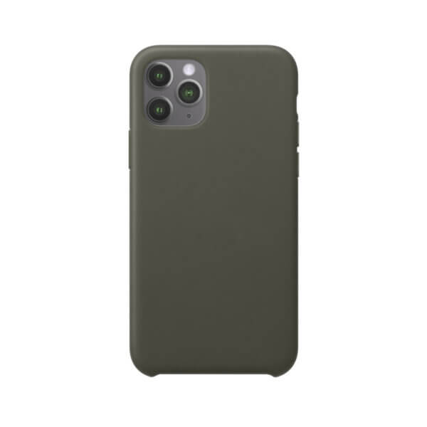 iPhone 11 Pro siliconen hoesje - dark olive