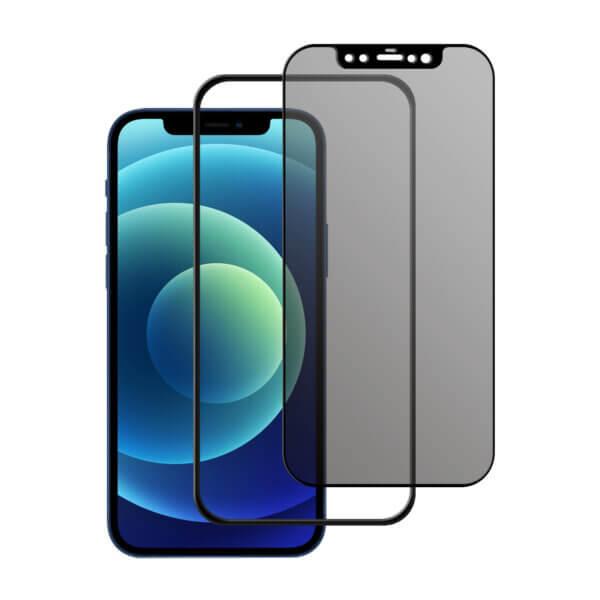 iPhone 12 Privacy screenprotector met installatietool tempered glass Edge to Edge Telefoonglaasje