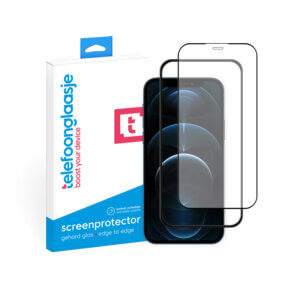 iPhone 12 Pro screenprotector met installatietool tempered glass Edge to Edge