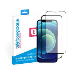iPhone 12 screenprotector met installatietool tempered glass Edge to Edge