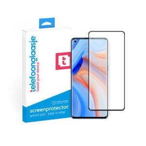 OPPO Reno 4 Pro screenprotector met verpakking Telefoonglaasje