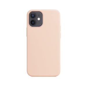 Telefoonglaasje iPhone 12 Mini siliconen hoesje - Pink Sand