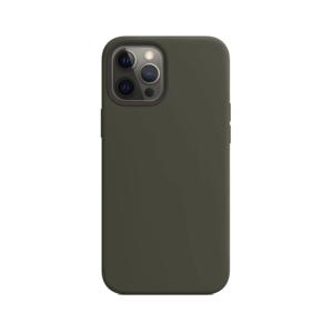 Telefoonglaasje iPhone 12 Pro Max siliconen hoesje - Dark Olive