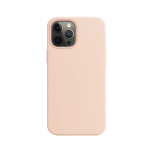 Telefoonglaasje iPhone 12 Pro Max siliconen hoesje - Pink Sand