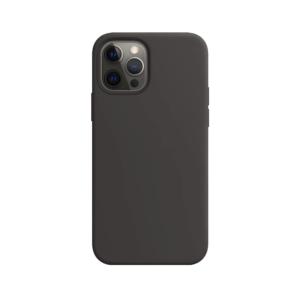 Telefoonglaasje iPhone 12 Pro Max siliconen hoesje - Zwart