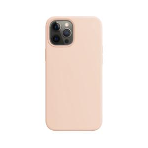 Telefoonglaasje iPhone 12 Pro siliconen hoesje - Pink Sand