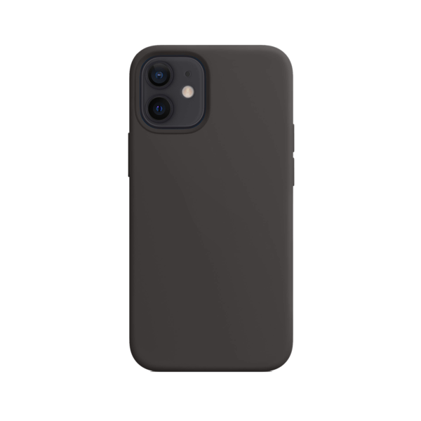 Telefoonglaasje iPhone 12 siliconen hoesje - Zwart