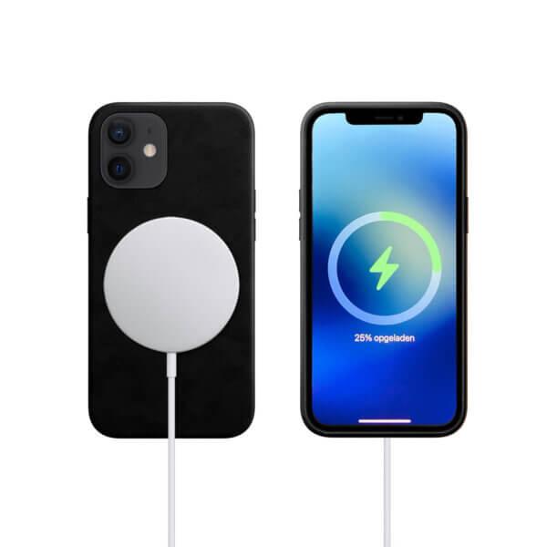 iPhone 12 MagSafe Leder met Lader