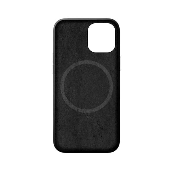 iPhone 12 Magsafe hoesje leer zwart binnenzijde