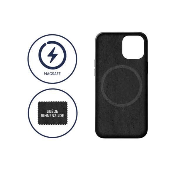 iPhone 12 MagSafe Leder Suede Binnenzijde