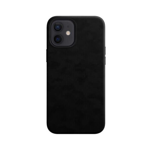 iPhone 12 Magsafe hoesje leer zwart