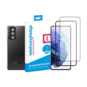 Telefoonglaasje Galaxy S21 scherm en camera screenprotector