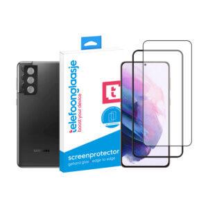 Telefoonglaasje Galaxy S21 Plus scherm en camera screenprotector