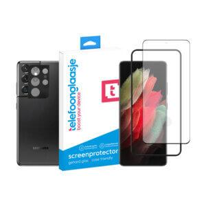 Telefoonglaasje Galaxy S21 Ultra scherm en camera screenprotector