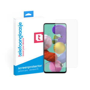 Samsung Galaxy A51 screenprotector met verpakking