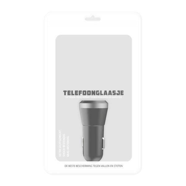 Duo Autolader USB-A - Zwart - in verpakking